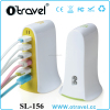 6 USB Port 40W Rapid Wall Travel Charger W/Surge For Smartphone Tablet