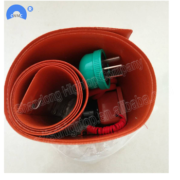Factory supply silicone rubber flexible oil drum heater with thermostat for sale