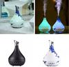 Blue and White Porcelain Essential Oil Diffuser 300ml Air Humidifier 7Color LED Light Aroma Diffuser Aromatherapy Mist Maker