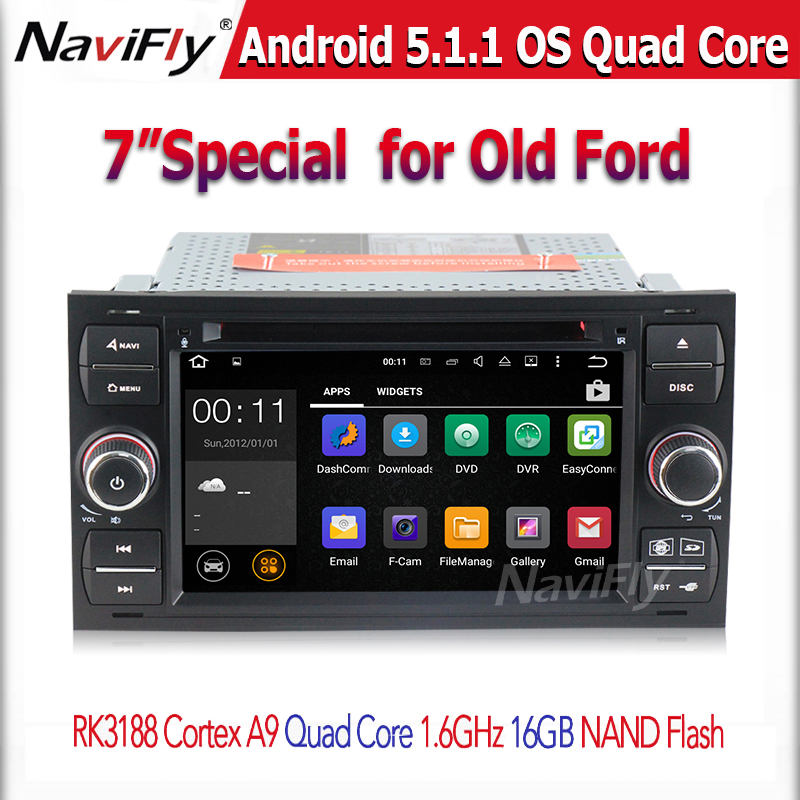Pure Android 5.1. Car Multimedia headunit auto Radio For Transit Galaxy Fusion C-MAX S-MAX GPS navigation car