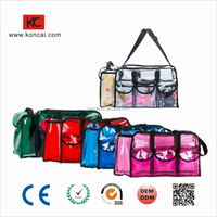 Zipper PVC Waterproof Portable Clear Transparent Cosmetic Bag