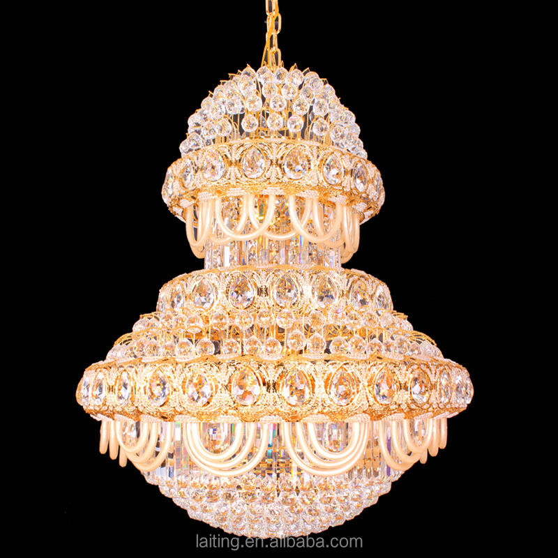 2018 Indian Pendant Lighting Modern Led Big Chandelier Crystal Lights for Entrance
