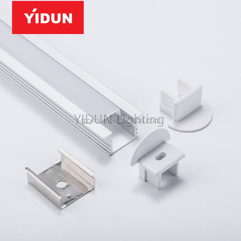 YIDUN Lighting 11mm width Recessed LED Aluminum Channel Profile lighting YPR1611 China Alibaba for drywall mounted