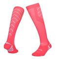 Men sports socks long thick soles Stripe Anti slip running soccer football sock