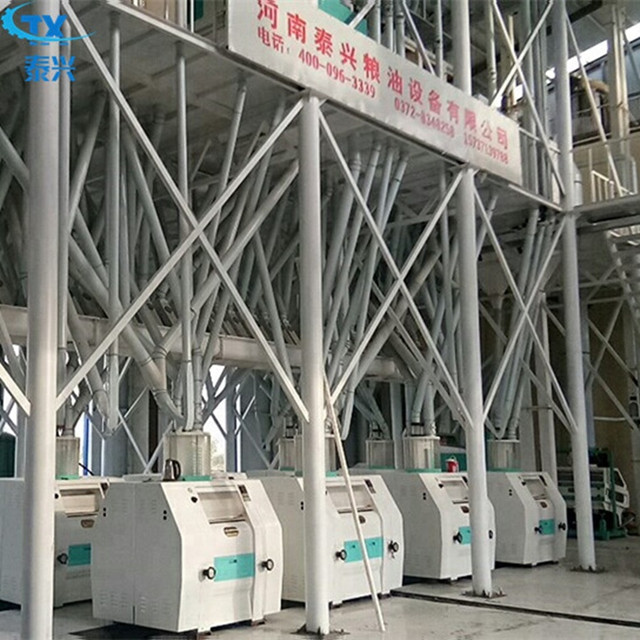 100 ton per day automatic wheat seed to wheat flour processing plant