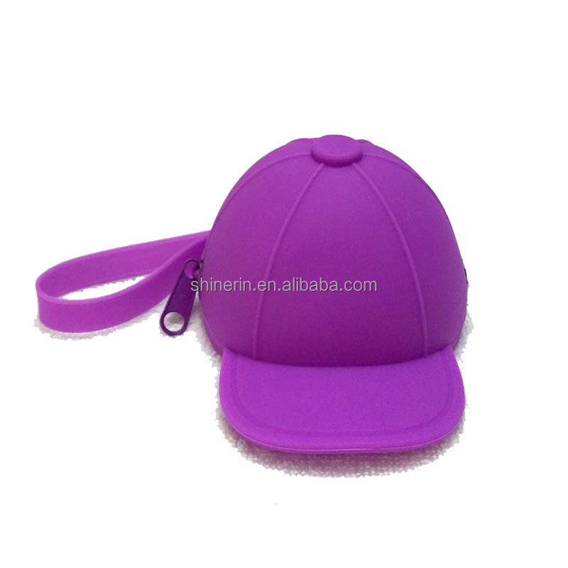 Backpack Decoration Small Hanging Wallet Basball Cap Shape Silicone Bag Coin Purse