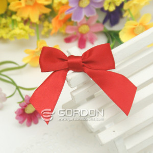 red holidays ribbon bows packaging with elastic loop/pre tied bow /gift packaging ribbon