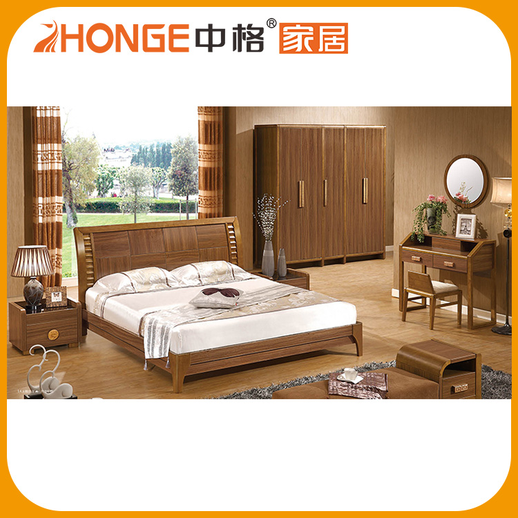 High Quality Chinese Brown Sets Clic Bedroom Furniture