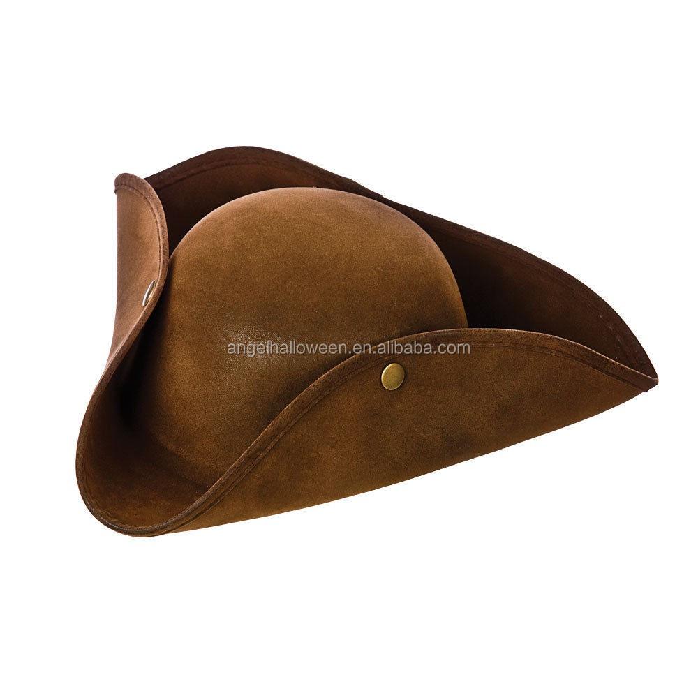98fb97ae4046e De Halloween para adultos sombrero Jack Sparrow Piratas del Caribe rastas  pelo elegante vestido sombrero marrón