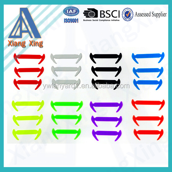 Silicone gel lazy shoelaces fashion no tie shoelace