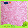 Manufacture Hot Sale Viscose Pink Lace Fabric for Curtains