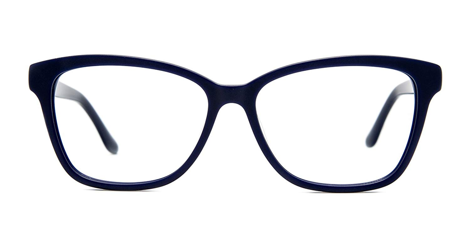 ebbb9aa2bc0 Get Quotations · TIJN Acetate Translucent Front Cateye Eyeglasses Floral  Arm for Women