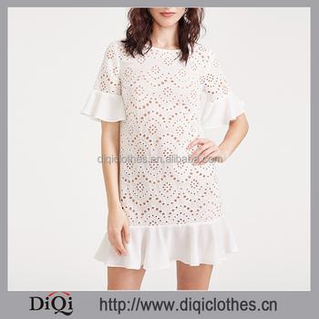 f56fd0ce06 Vestidos ojalillo blanco - Vestidos formales