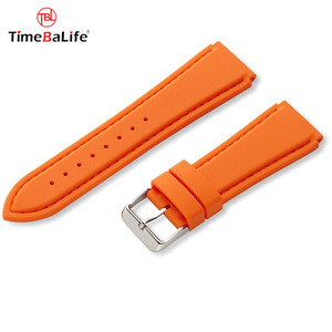 Custom Simple 18mm multi-color Silicone Watch Band