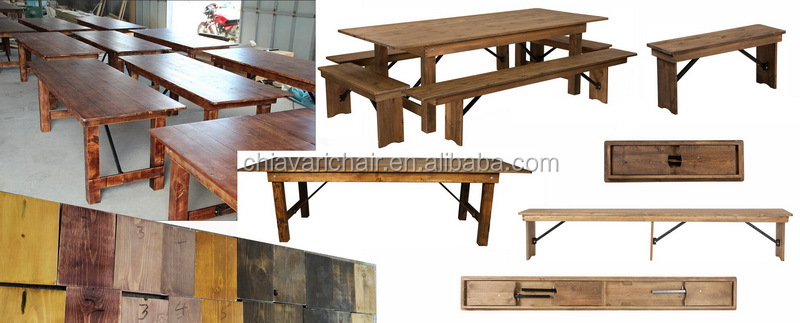 Wood farm tables