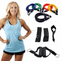 Wholesale Home gym 11 Piece rubber Resistance Band Workout Set