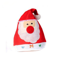 2018 FashionableNon-woven Silk Christmas Santa Claus Hat