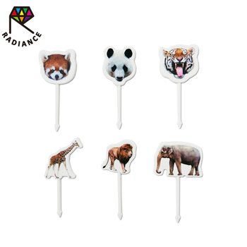 Party Supplies 4.5cm Mini Children Food Pick Cute Animal Bento Picks Food Picks