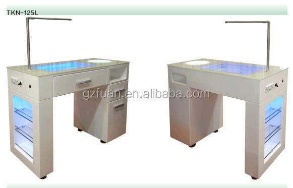 Wholesale Cheap Salon Furniture Luxury Modern White Glass