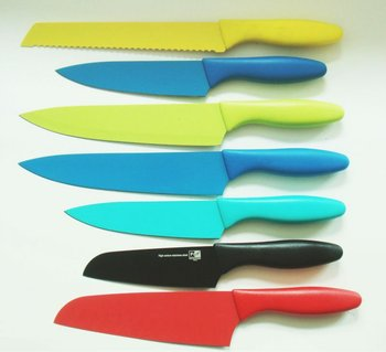 Plastic Handle Nonstick Knife Set.colorful Kitchen Knives - Buy Nonstick  Knives Product on Alibaba.com