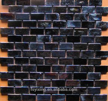 Por In American Strip Black Iridescent Gl Subway Tile For Bathroom Kitchen Backsplash Tiles Wall