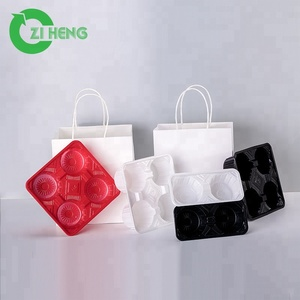 Hot selling PS plastic cup carrier coffee cup packaging tray