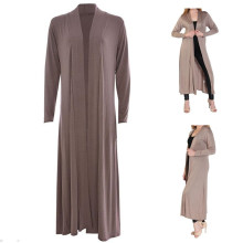 Laides Women Long Sleeve Open Front Extra Long Length Beautiful Boyfriend Maxi Cardigan