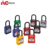 ABS lock body master keys 6 pins cylinder nylon shackle safety pad lock