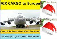 Santa Baby Hat air/sea freight from Guangzhou/shenzhen/shanghai/ningbo/yiwu to SWEDEN