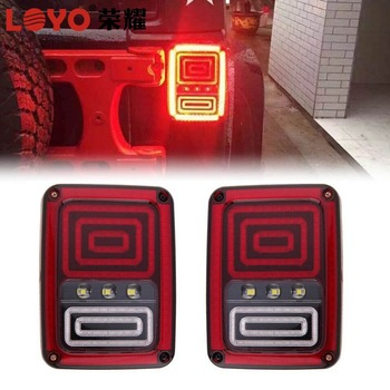 IP67 Waterproof yellow tail lights rear signal reverse lamps for wrangler