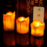 Electronic yellow flickering flameless led candles light