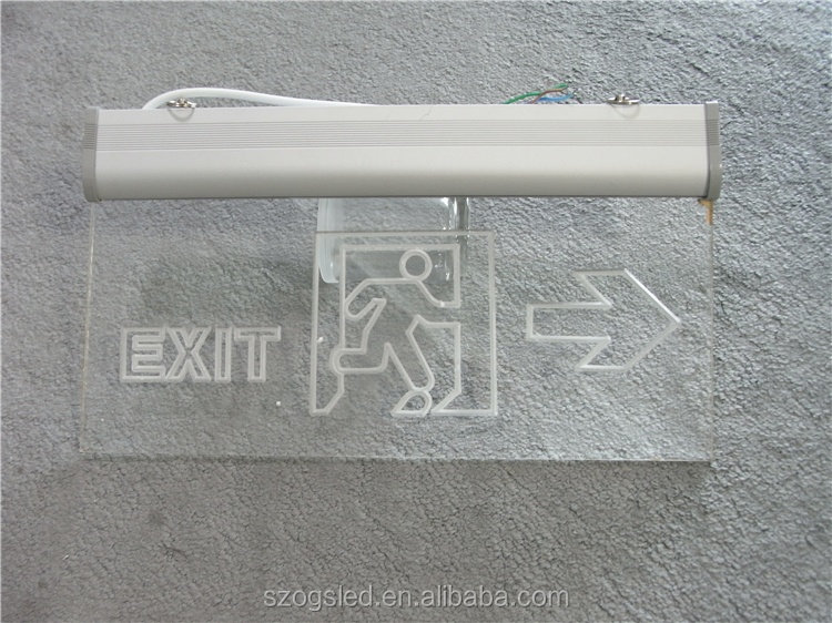 hanging type led exit sign board emergency lamp