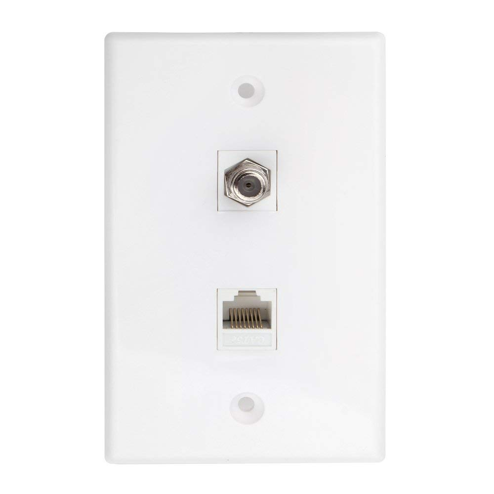 Cheap Cat 6 Outlet Find Deals On Line At Alibabacom Cat6 Rj45 Jack Wiring Get Quotations Tnp Coaxial Connector Ethernet Network Wall Plate Dual 2 Port Combo Video Coax F