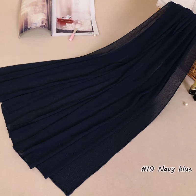 High Quality Premium Crinkle Chiffon Scarves Long Shawl Scarf Women Hijab Pleated Wraps