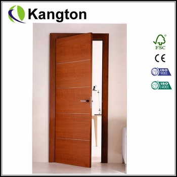 Popular New Morden Design Of Wood Veneer Interior Flush Door With