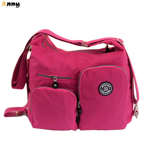 ANNY-multifunction large capacity waterproof nylon women bags,simple design women messenger bags,fashion big travel bag for girl