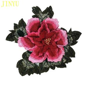 Red Rose Embroidery Flower Patch Sew on Clothes