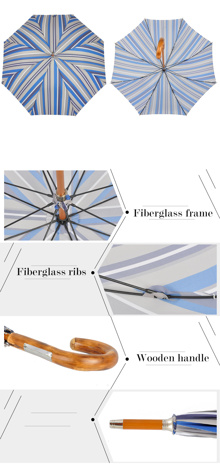 LG-05 high quality luxury wooden handle straight umbrella