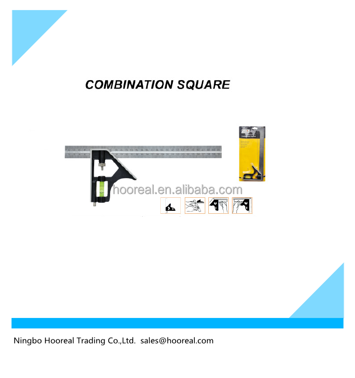 Adjustable Combination Square Measuring Set