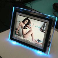 Stylish acrylic led photo frame, customized acrylic photo frame with led light inside