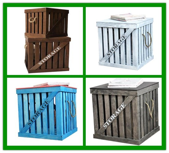 Durable antique color cheap wooden crates buy cheap for Vintage crates cheap