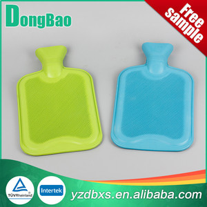2000ml modern fancy rubber hot water bottle in green colour