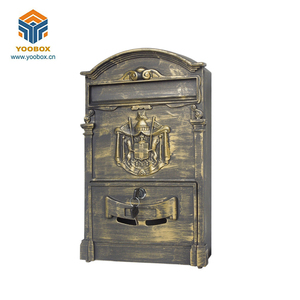 Hot sale aluminum marble mailbox post box for letters european style