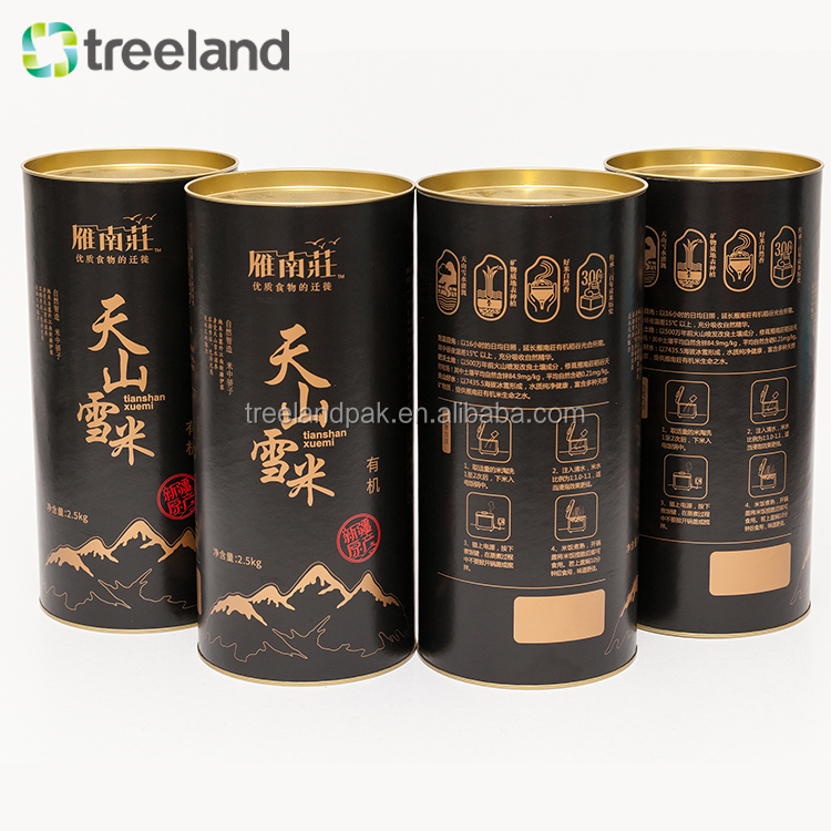 Hot sale tube paper pack customized cardboard cylinder packaging box