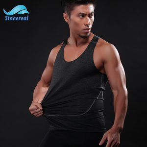 Breathable Sleeveless Tank Top Sport Man Gym Vest for Yoga and Running