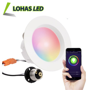 Smartphone Controlled Voice Controlled WiFi Smart LED Light 4 Inch Recessed LED Downlights work with Google Home and Alexa