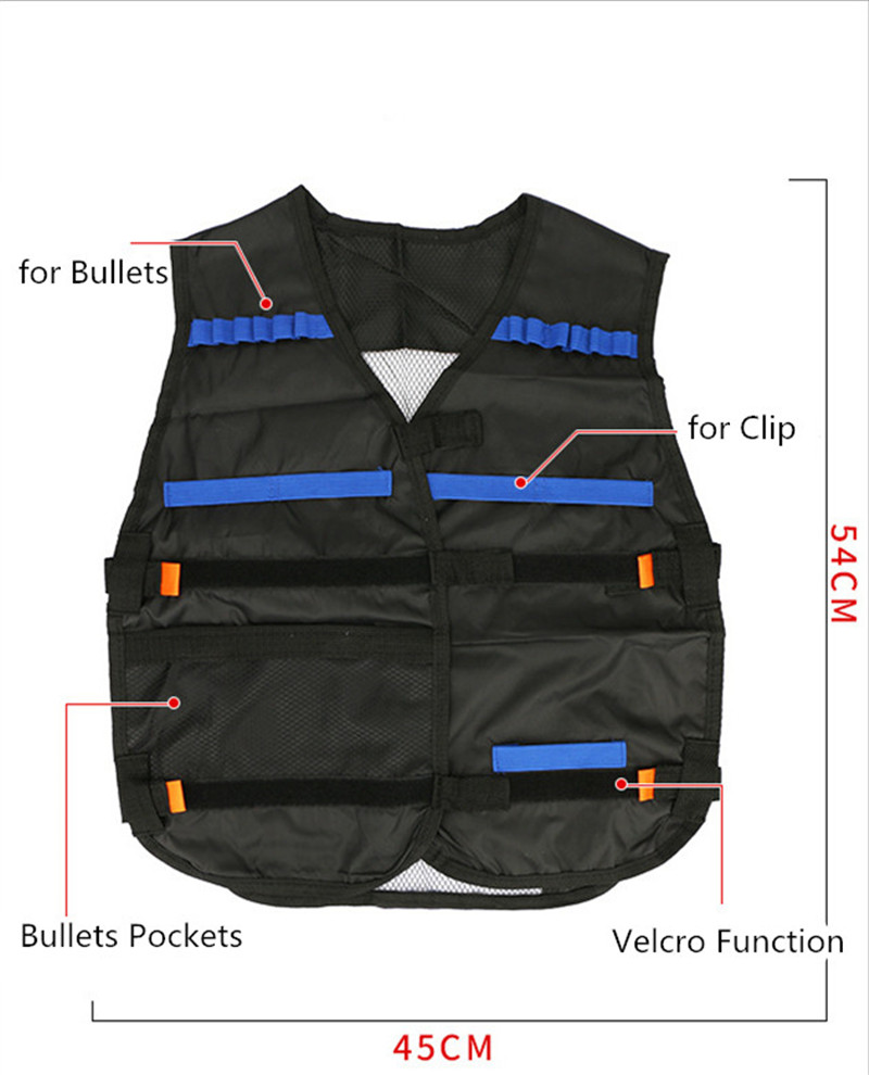 2019 New Tot Selling Amazon Factory Price Children Soft Bullet Kids Tactical Vest Kit For Guns Toy Accessories,Tactical Vest set