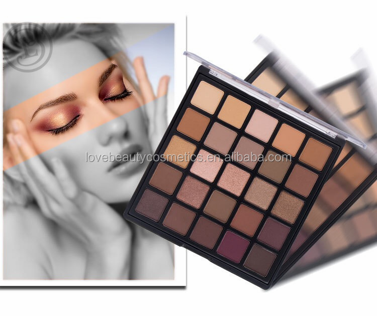 Unbranded eyeshadow 25 color with highpigment shimmer color eyeshadow