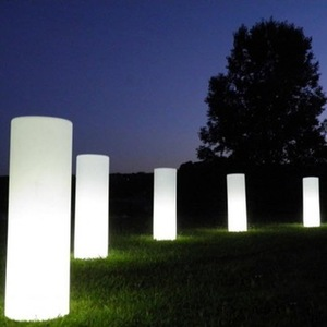 Outdoor waterproof glowing led cylinder shape led lights