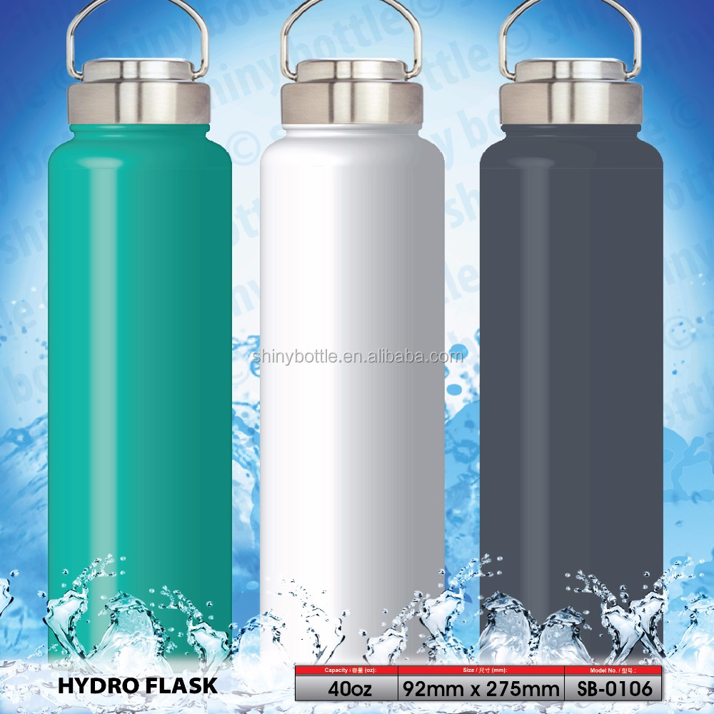 40 OZ 18 8 Stainless Steel Hydro Flask Vacuum Insulated Sports Water Bottle